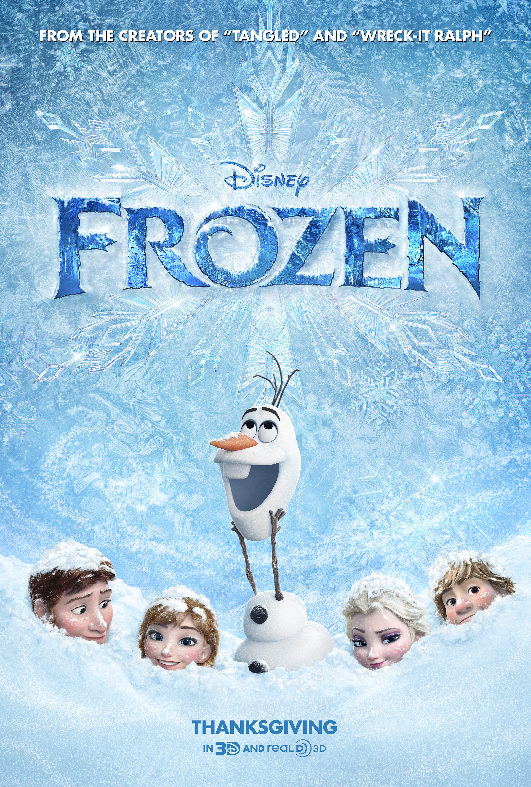 Frozen Poster Olaf Frozen | Reel Girl